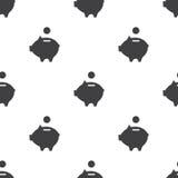 Moneybox piggy, vector naadloos patroon Stock Foto