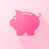 Moneybox plano Fotografía de archivo libre de regalías