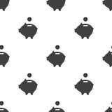 Moneybox prosiątko, wektorowy bezszwowy wzór Zdjęcie Stock