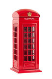 Moneybox representing red british telephone booth Stock Photography