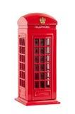 Moneybox reprezentuje czerwony brytyjski telefoniczny budka Fotografia Stock