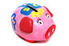 Moneybox - spargris Arkivfoto