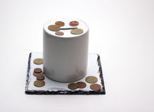 Moneybox. On a white background, isolated object Royalty Free Stock Image