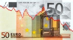 Moneycrisis en Europa stock de ilustración