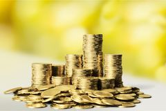 Moneyed. Money bank riches lot gold concept Stock Photography