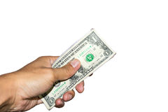 Moneys in hand. Stock Photography