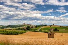 Monferrato Ιταλία, αγροτικό τοπίο στοκ φωτογραφία με δικαίωμα ελεύθερης χρήσης
