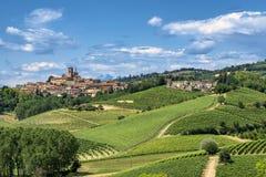 Monferrato Ιταλία, αγροτικό τοπίο στοκ φωτογραφίες