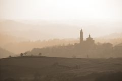 Monferrato skyline, Italy stock photography