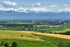 Monferrato (Włochy): krajobraz Obrazy Stock