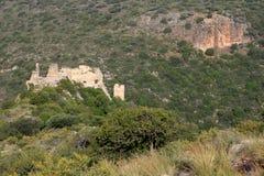 Monfort Castle, Israel. View of Monfort Castle, ruined crusader castle, Israel Royalty Free Stock Photo