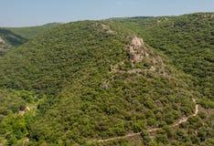 Monfort - crusader castle, Galilee, Israel. Monfort - a ruined crusader castle in the Upper Galilee region in northern Israel Stock Image