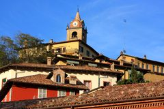 Monforte d'Alba, Langhe shire, Italy Stock Photography