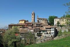 Monforte d`Alba in the Piemonte wine region of northern Italy. stock image