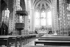 Monforte d'Alba: the village church. Black and white photo Stock Photo