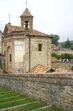 Monforte d'Alba: the village church. Color image Stock Photo