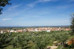 Monforte a Dinamarca distrito de Beira, Castelo Branco, província de Beira Baixa, Portugal Imagens de Stock