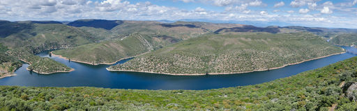 River Sky Mountains Panorama - Spain Stock Photography