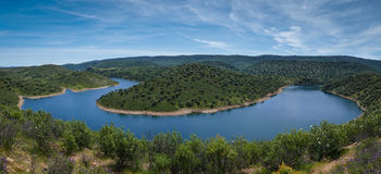 Monfrague National Park Panorama - Spain Stock Image