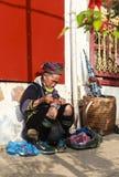Mong妇女在越南 免版税库存图片