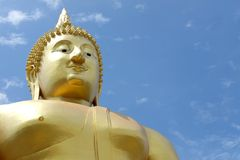 Mong grande do wat da Buda, Angthong Foto de Stock