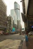 Mong Kok är i Hong Kong Arkivfoton