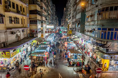 Mong Kok, Гонконг Стоковые Фотографии RF
