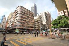 Mong Kok gatasikt i Hong Kong Royaltyfri Foto