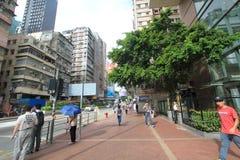 Mong Kok gatasikt i Hong Kong Fotografering för Bildbyråer