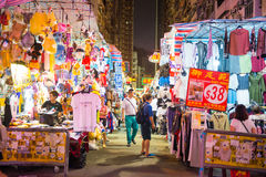 Mong Kok, Hong Kong - September 24, 2016 : Ladie's market - Popu Stock Photos