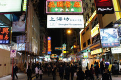 Mong Kok night view Stock Photography