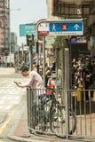 Mong Kok område i Hong Kong Royaltyfri Bild