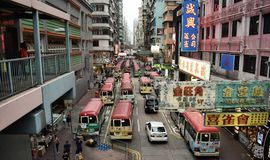 mong kok and red vans Royalty Free Stock Photography