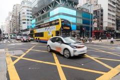 Mong Kok ruch drogowy Zdjęcie Royalty Free