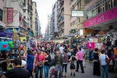 Mong Kok street market hong kong Stock Photos