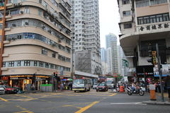 Mong Kok street view in Hong Kong Stock Image