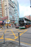Mong Kok street view in Hong Kong Royalty Free Stock Photo