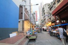 Mong Kok street view in Hong Kong Stock Photography
