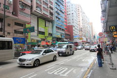 Mong Kok street view in Hong Kong Royalty Free Stock Photography