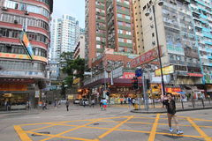 Mong Kok street view in Hong Kong Stock Photo