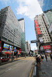 Mong Kok street view in Hong Kong Royalty Free Stock Photos