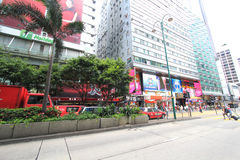 Mong Kok street view in Hong Kong Royalty Free Stock Image