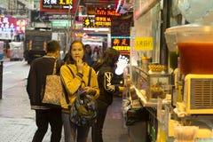 Mong Kok teren w Hong Kong obrazy stock