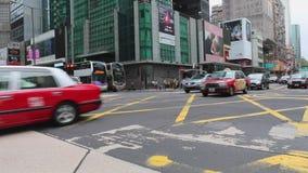 Mong Kok trafik Hong Kong lager videofilmer