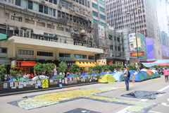 Mong Kok umbrella movement in Hong Kong Royalty Free Stock Photos