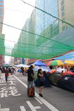 Mong Kok umbrella movement in Hong Kong Royalty Free Stock Image