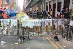 Mong Kok umbrella revolution in Hong Kong Royalty Free Stock Image