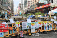 Mong Kok umbrella revolution in Hong Kong Stock Photography