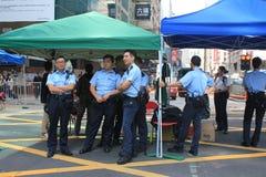Mong Kok umbrella revolution in Hong Kong Stock Photo