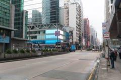 Mong Kok w ranku Zdjęcie Royalty Free
